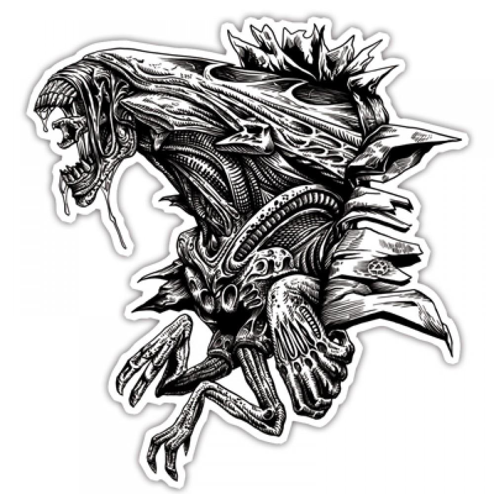 Alien queen sticker