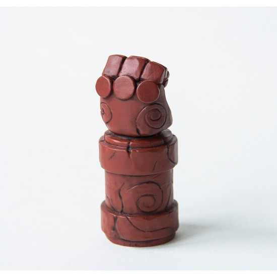 Red stone hand