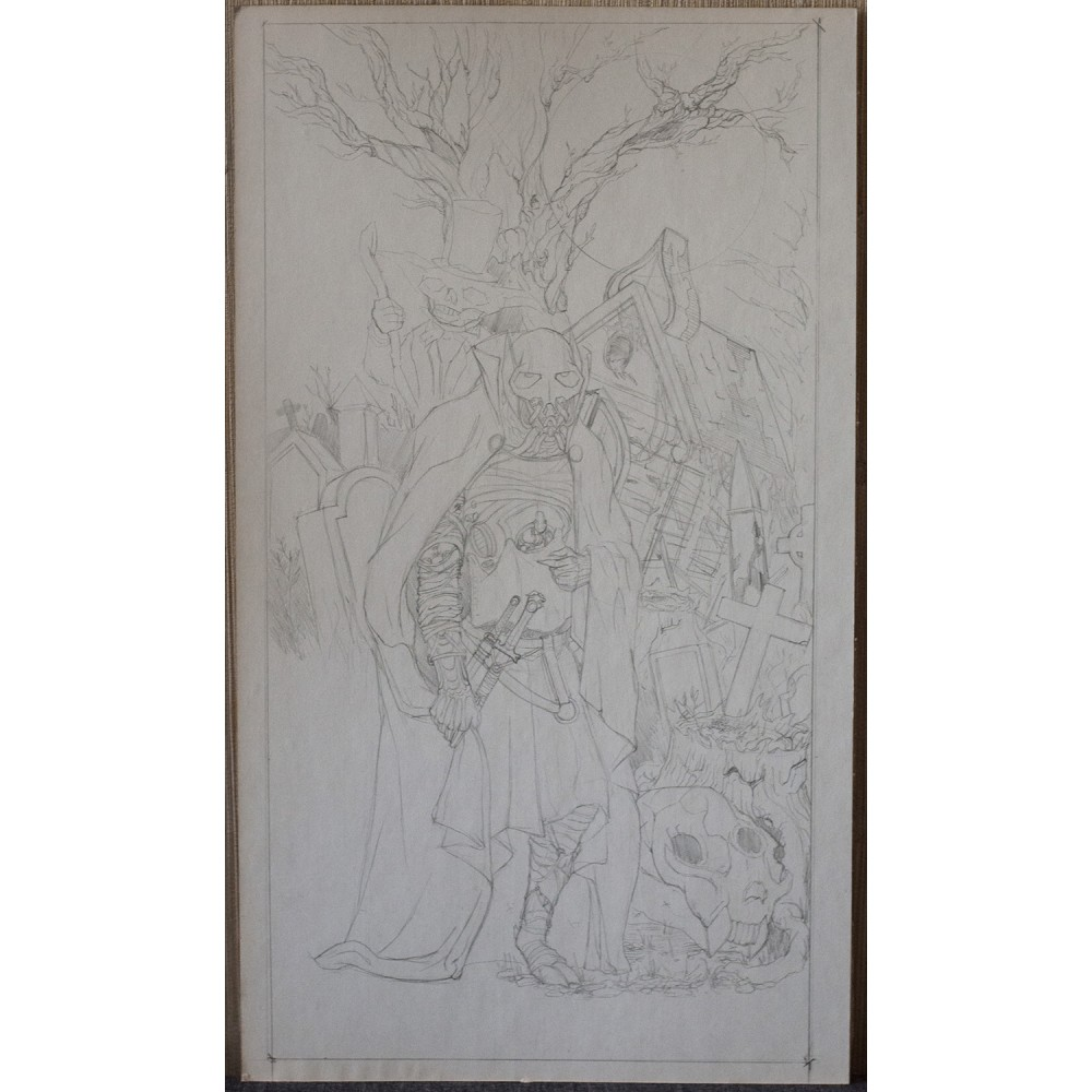Lord Grievous in the mysterious forest - original artwork