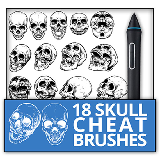 Cheat brushes - Human skulls