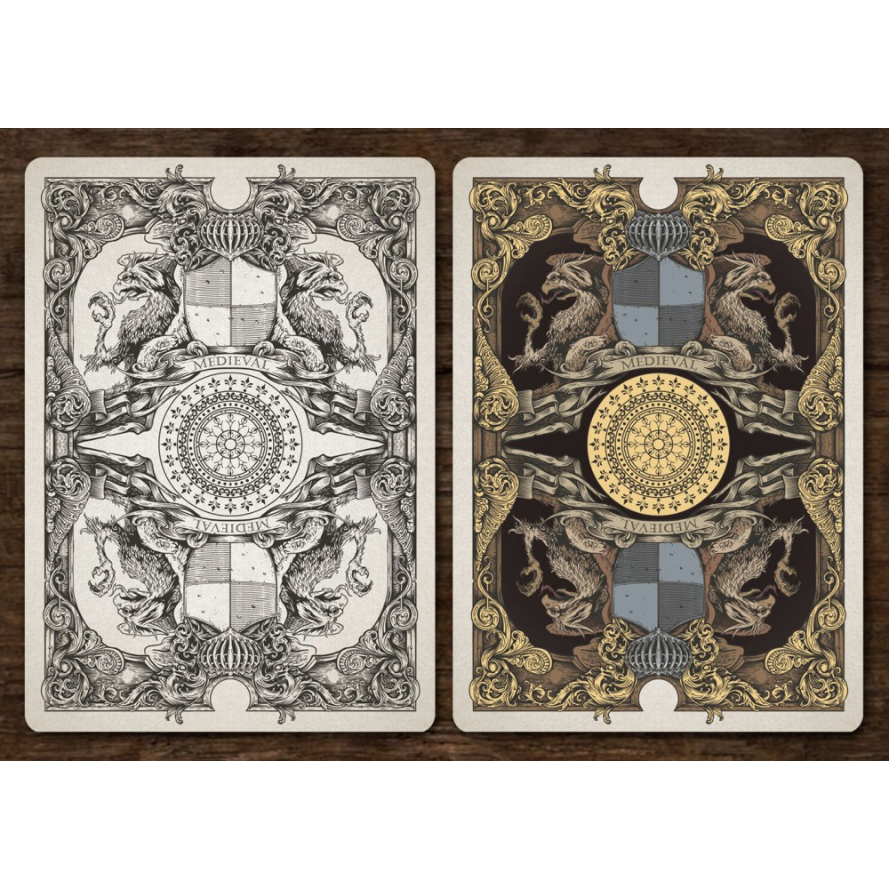 Medieval - playing cards. Gold edition