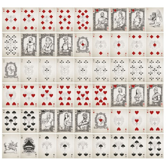Medieval - playing cards. Unlimited uncunt print