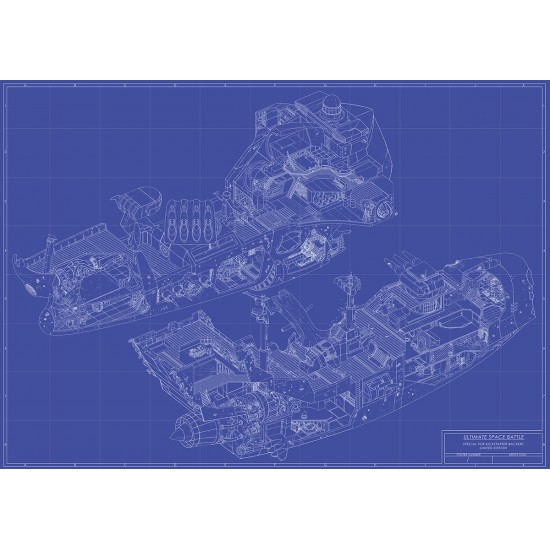 Ultimate space battle poster blueprint