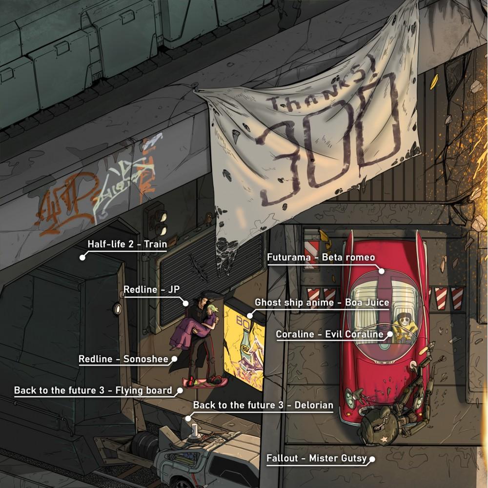A.D. 2.222 - Giant Cyberpunk Character Poster. Digital edition. Season 2