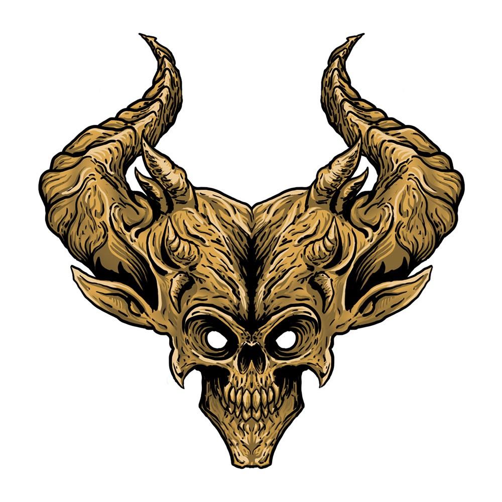 Demon head vinyl sticker
