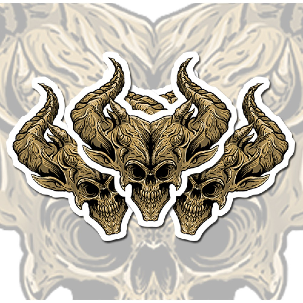Demon head vinyl sticker