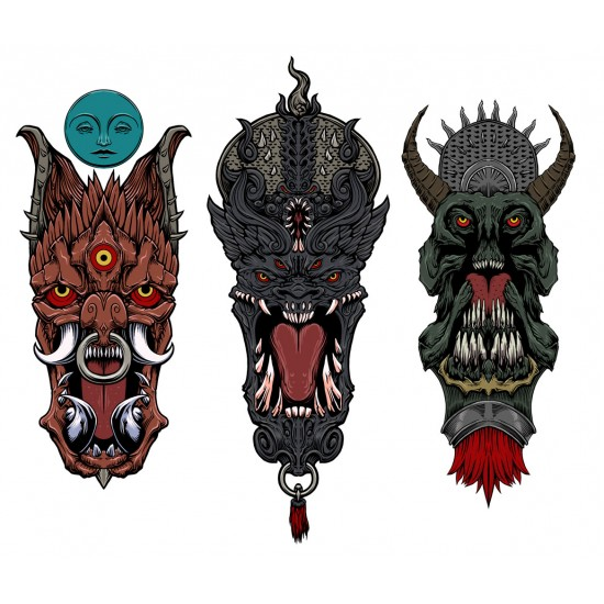 ONI stickers - Japanese demons