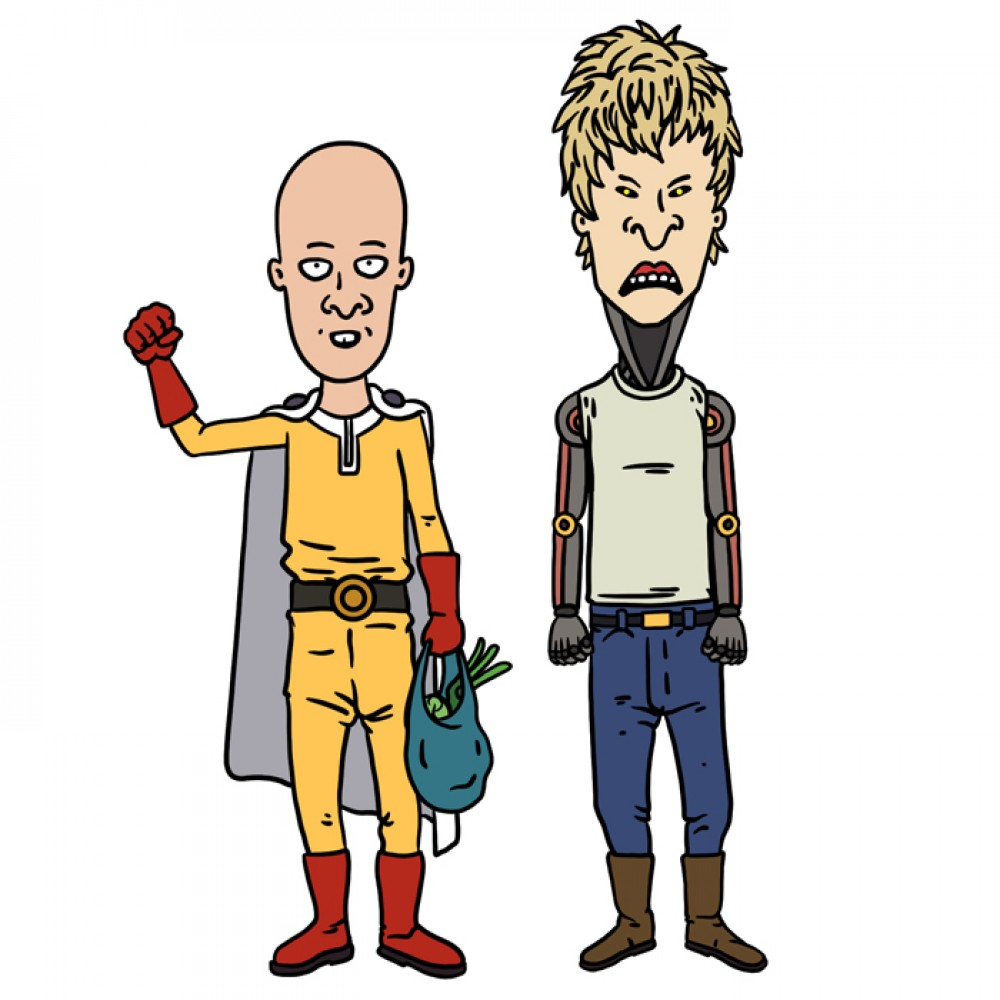 Onepunchman stickers - Saitama and Genos fan art